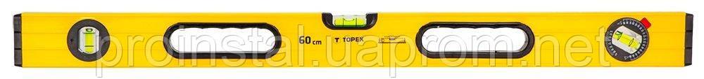 Уровень TOPEX алюминиевый, тип 600, 60 см, 3 глазка
