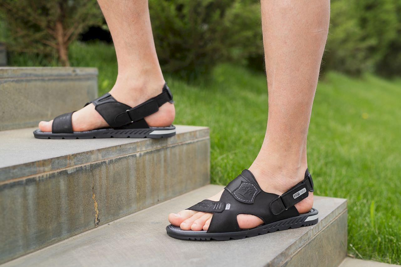 Мужские сандали кожаные летние черные-серые Splinter с 0320