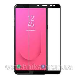 Защитное цветное стекло Mocolo (full glue) на весь экран для Samsung Galaxy J8 (2018)