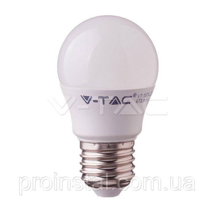 Лампа светодиодная V-TAC, 7W-60W, SKU-866, SAMSUNG CHIP  E27 G45 Plastic, 3000K
