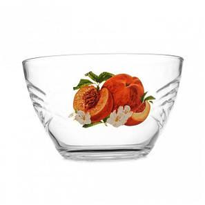 Салатник стеклянный с фруктами ОСЗ Сидней 18 см (8179), фото 2