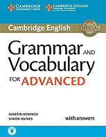 Грамматика Cambridge Grammar and Vocabulary for Advanced with Answers and Downloadable Audio Hewings, M ISBN 9781107481114