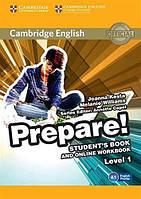 Учебник Cambridge English Prepare! 1 Students Book with Online Workbook ISBN 9781107497153