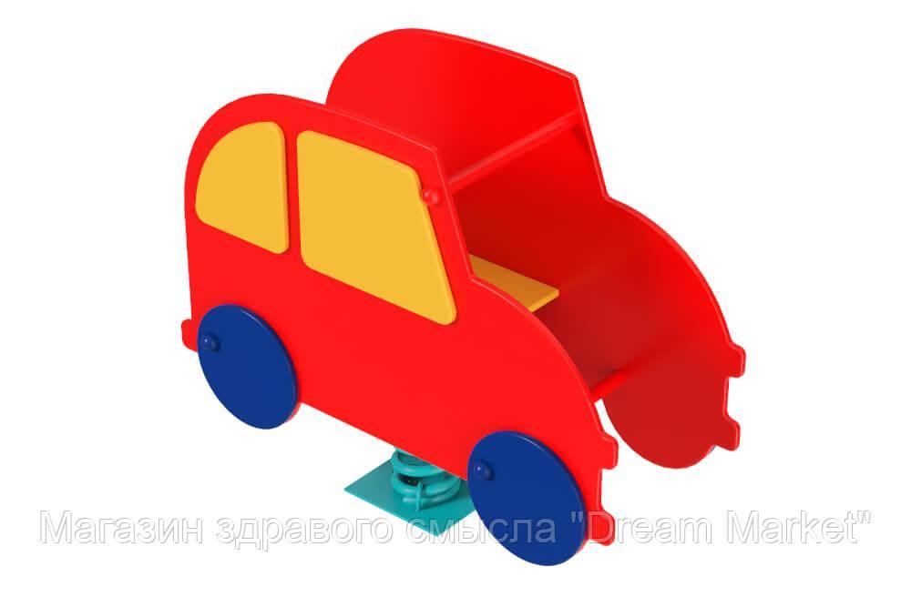 Спортивно-игровая Качалка Джип жип на пружине для детского сада для детей от 3 до 6 лет фигурная 100х43х90 см