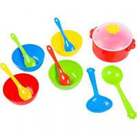 Набор посуды столовый Ромашка, 12 эл красная 39143