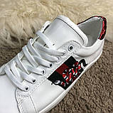 Gucci Snake Embroidered Sneaker White, фото 9