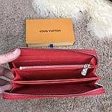 Louis Vuitton x Supreme Wallet Zip Around Epi Red, фото 10