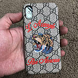Gucci iPhone X Case with Tiger GG Supreme, фото 8