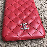 Chanel Iphone X Case Quilted Double C Red, фото 6