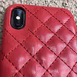 Chanel Iphone X Case Quilted Double C Red, фото 7