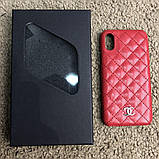 Chanel Iphone X Case Quilted Double C Red, фото 9