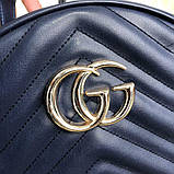 Gucci GG Marmont Quilted Backpack Blue, фото 3