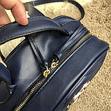 Gucci GG Marmont Quilted Backpack Blue, фото 4
