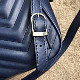 Gucci GG Marmont Quilted Backpack Blue, фото 6