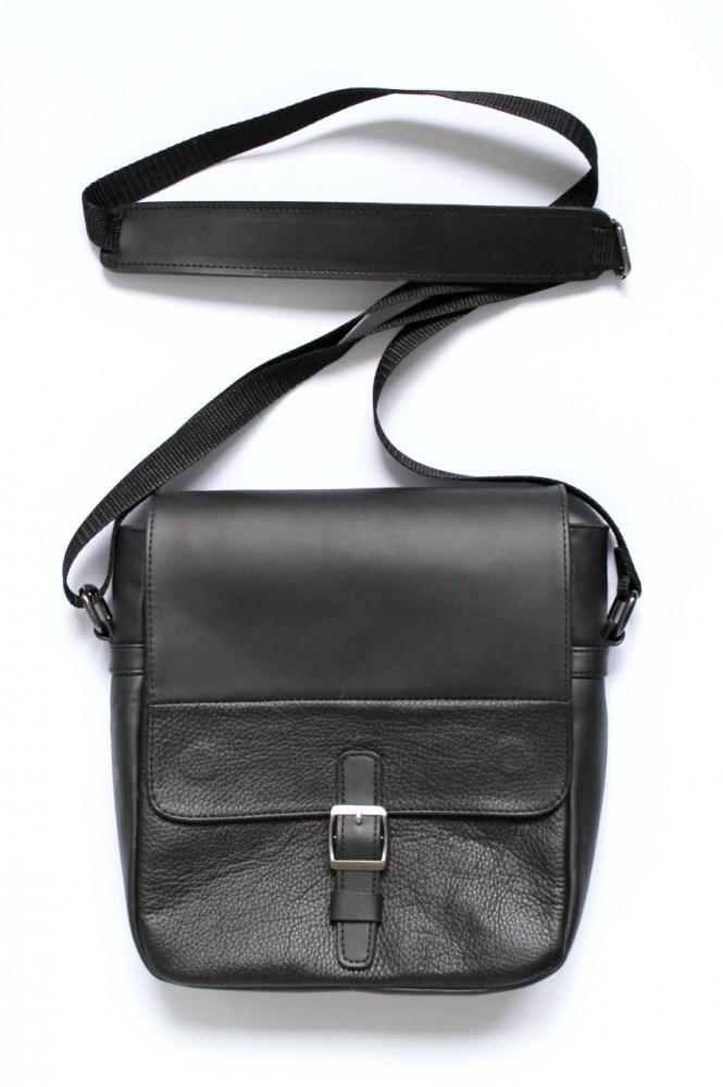 """Мужская сумка """"LA"""" из натуральной кожи черная"""