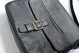 """Мужская сумка """"LA"""" из натуральной кожи черная, фото 2"""