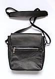 """Мужская сумка """"LA"""" из натуральной кожи черная, фото 3"""