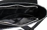 """Мужская сумка """"LA"""" из натуральной кожи черная, фото 8"""