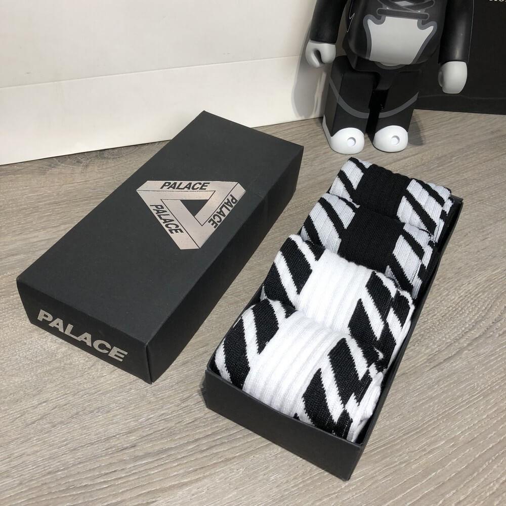Socks Palace x Off White Pack 4 Black/White