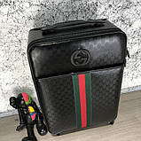 Gucci Rolling Luggage Signature 55 with Web Black, фото 2