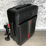 Gucci Rolling Luggage Signature 55 with Web Black, фото 3