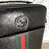 Gucci Rolling Luggage Signature 55 with Web Black, фото 5