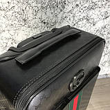 Gucci Rolling Luggage Signature 55 with Web Black, фото 6