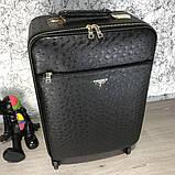 Prada Rolling Luggage Ostrich 55 Black, фото 2