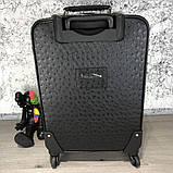 Prada Rolling Luggage Ostrich 55 Black, фото 5