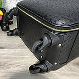 Prada Rolling Luggage Ostrich 55 Black, фото 6