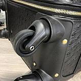 Prada Rolling Luggage Ostrich 55 Black, фото 7