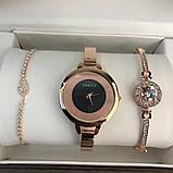 Подарочный Набор Gucci Bracelet/Watch/Bracelet with Diamond Gold, фото 4