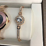 Подарочный Набор Gucci Bracelet/Watch/Bracelet with Diamond Gold, фото 5