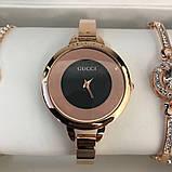 Подарочный Набор Gucci Bracelet/Watch/Bracelet with Diamond Gold, фото 6