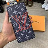 Бумажник Louis Vuitton Brazza Monogram Upside Down Ink Navy, фото 6