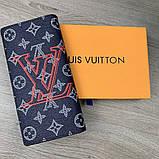 Бумажник Louis Vuitton Brazza Monogram Upside Down Ink Navy, фото 7