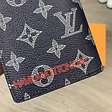 Бумажник Louis Vuitton Brazza Monogram Upside Down Ink Navy, фото 10