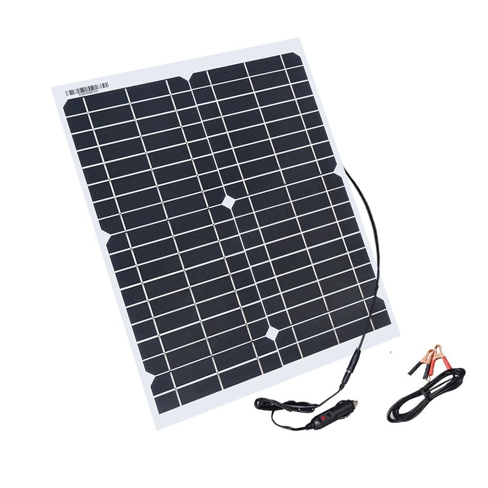 Гибкая солнечная батарея 20W 12V (2017)