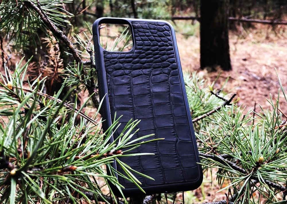 Чехол для (Iphone 11 Pro Max) alligator black