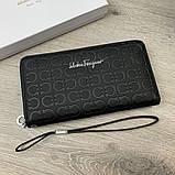 Бумажник Salvatore Ferragamo Gancini Zip Around Black, фото 3