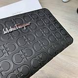 Бумажник Salvatore Ferragamo Gancini Zip Around Black, фото 8