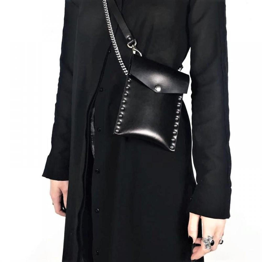 """Небольшая женская сумка для мелочей """"Stellato"""" черная"""