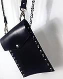 """Небольшая женская сумка для мелочей """"Stellato"""" черная, фото 3"""
