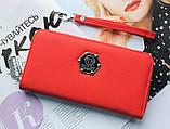 Женский вместительный кошелек Philipp Plein красный, фото 6
