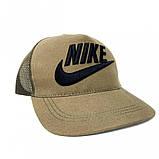 Тракер кепка Nike хаки Большой логотип, фото 3