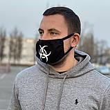 Защитная маска черная Biohazard, фото 2