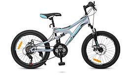Велосипед черно-серый-бирюза 20 Д. G20DAMPER S20.5