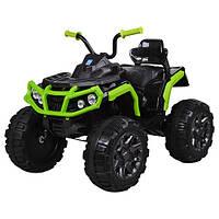 Детский квадроцикл Bambi M 3156EBLR-2-5 цвет черный / салатовый для девочки мальчика 3 4 5 6 7 8 лет