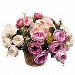 Букет искусственной  роза Остина 46 см, фото 2