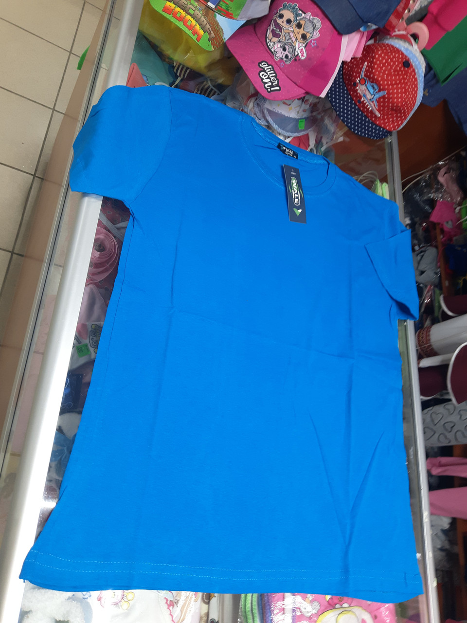 Мужская однотонная футболка р.52 54 56